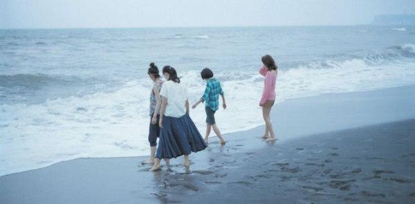 An early beach scene in the film