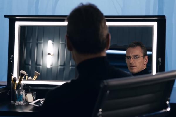 Michael Fassbender as Steve Jobs, artfully framed by Danny Boyle and Alwin H Küchler