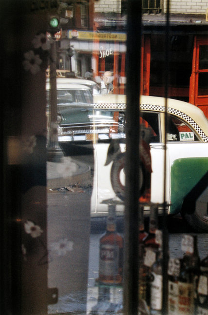 An interesting example of Saul Leiter's work with the different planes of colourframed and reflected through windows and doors (from: http://www.nytimes.com/2013/11/28/arts/saul-leiter-photographer-with-a-palette-for-new-york-dies-at-89.html?_r=0)