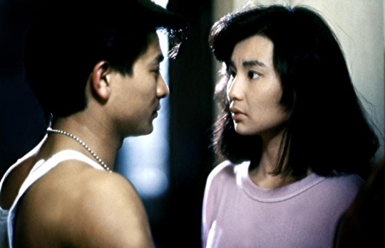 Andy Lau and Maggie Cheung in As Tears Go By