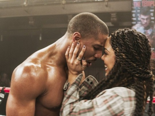 Tessa Thompson as Bianca, congratulating Adonis