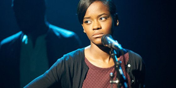 Jamie (Letitia Wright) performing as a music student