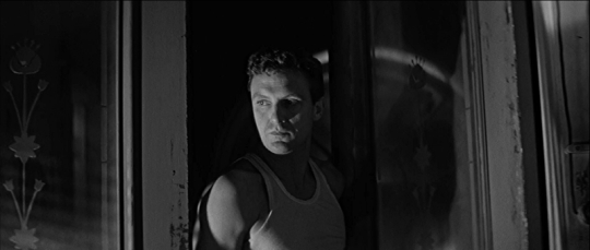 Roger Shumann (Robert Stack) has 'no way out' in the noir melodrama