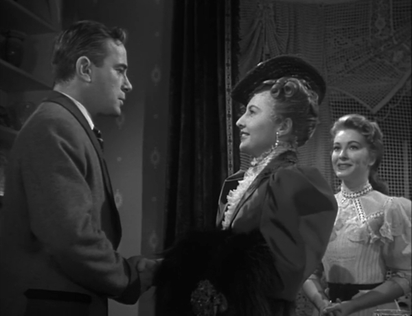 Naomi (Barbara Stanwyck) returns to her home after years away, surprising her husband Henry (Richard Carlson) and delighting her daughter Lily (Lori Nelson)