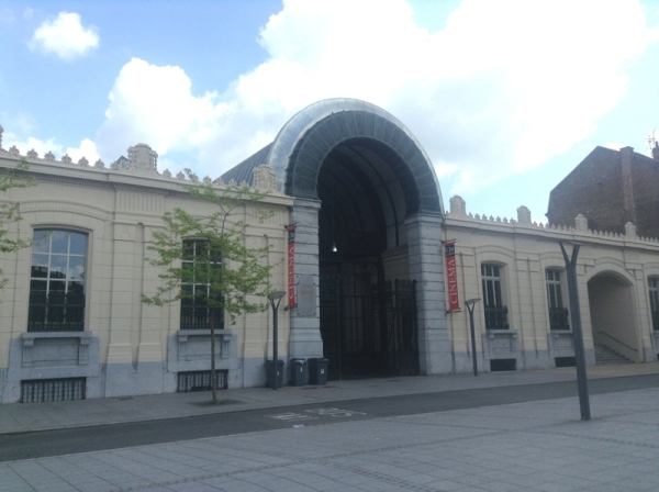The cinema built inside the old Chamber of Commerce building in Amentières