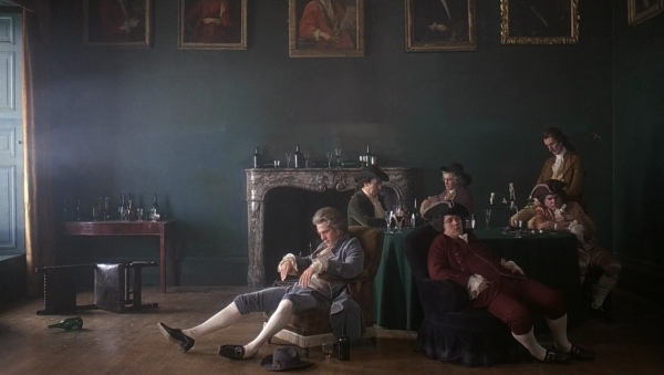 One of the beautifully-composed scenes from Part 2 with Barry drunk in his club. The image recalls a Hogarth etching and signals the beginning of Barry's fall.