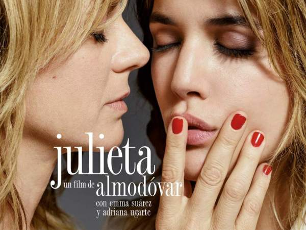 TheSpanish poster for Julieta featuring the two stars playing the same lead role.
