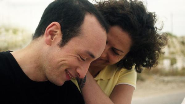 Majd Mastoura as Hedi and Rym Ben Messaoud as Rym in 'Hedi'