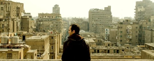 Khalid looks out across the city