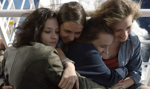 Four young women on their way to Belgrade