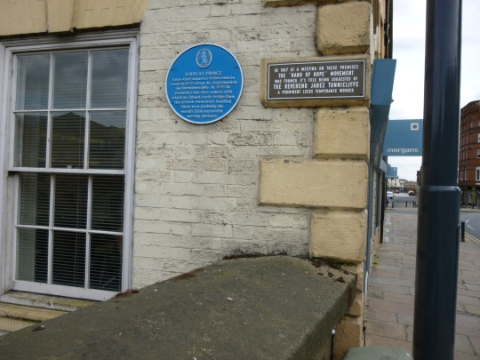 The plaque on Leeds Bridge