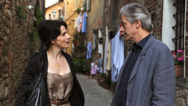Juliet Binoche as 'Elle' the 'unnamed woman' and William Shimell as 'James Miller' in 'Certified Copy'