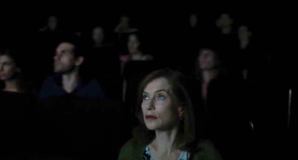 Nathalie in the cinema audience