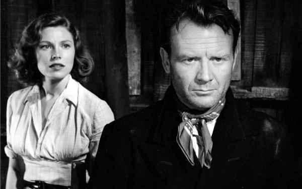 Philip (John Mills) and the refugee woman Ilse (Eva Bergh)