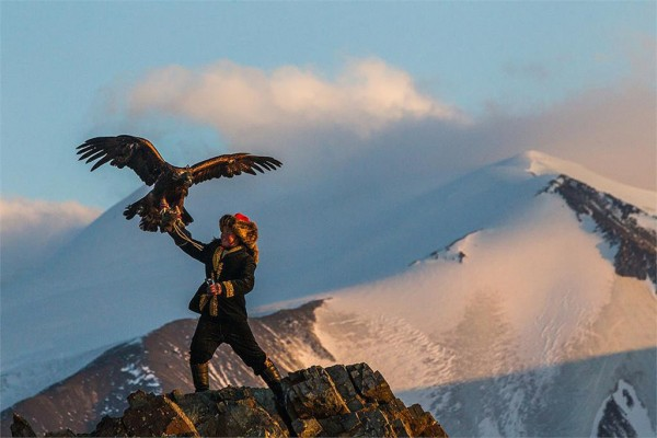 One of many stunning promotional shots for 'The Eagle Huntress'