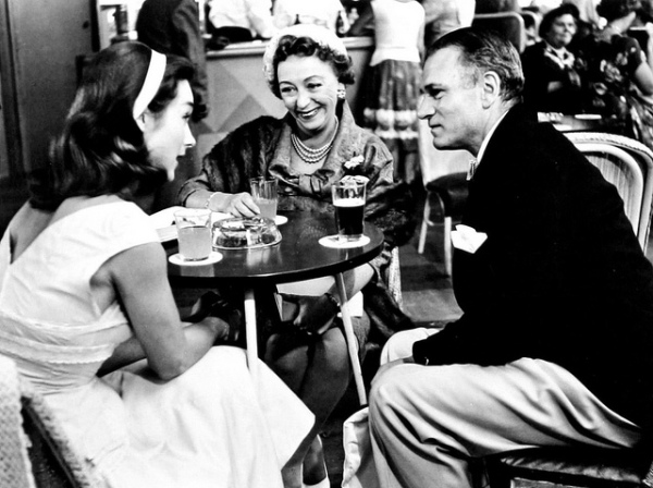 This is presumably a reportage shot during the production with Shirley Anne Field, Thora Hird and Laurence Olivier