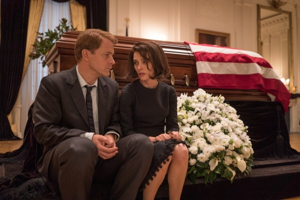 "Peter Sarsgaard as ""Bobby Kennedy"" and Natalie Portman as ""Jackie Kennedy"" in JACKIE. Photo by Bruno Calvo. © 2016 Twentieth Century Fox Film Corporation All Rights Reserved"